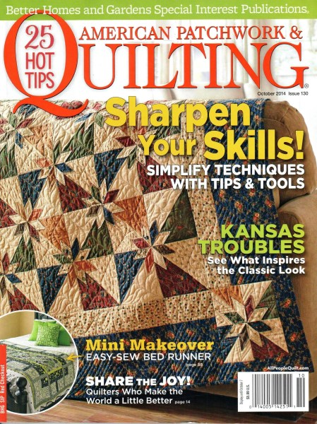 American Patchwork Quilting October 2014 Issue 130