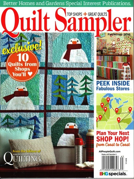 Quilt Sampler Fall Winter 2016