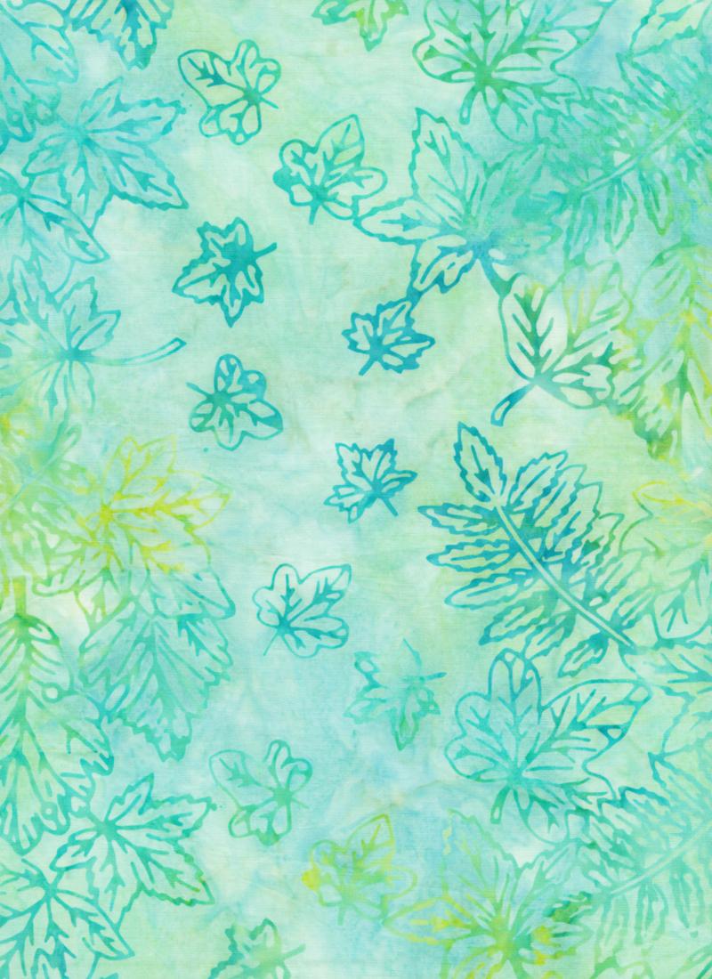 Anthology Jacqueline De Jonge Batik Print Blue Green Leaf