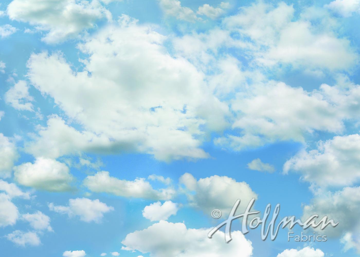a hoffman digital spectrum print -wide open spaces - the sky