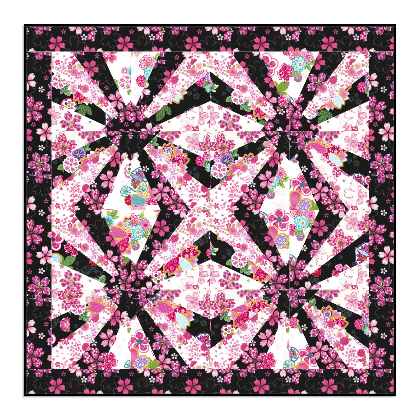 Quilt Patterns For Homespun Fabric : Sakura Wallhanging Kits by Cathy Johnson Kind