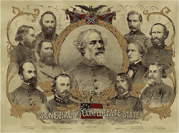 Civil War Era Confederate Generals Panel Gettysburg Viii