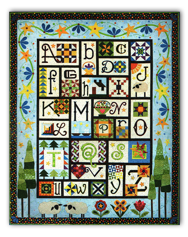 a to z for ewe and me quilt pattern by janet stone