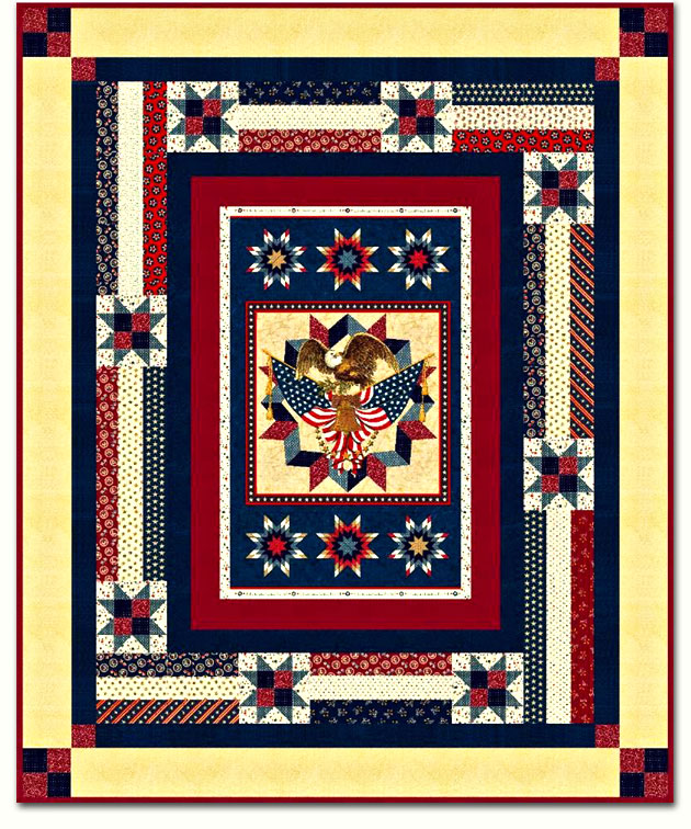 More Now In Stock American Valor Twin Size Quilt Kit