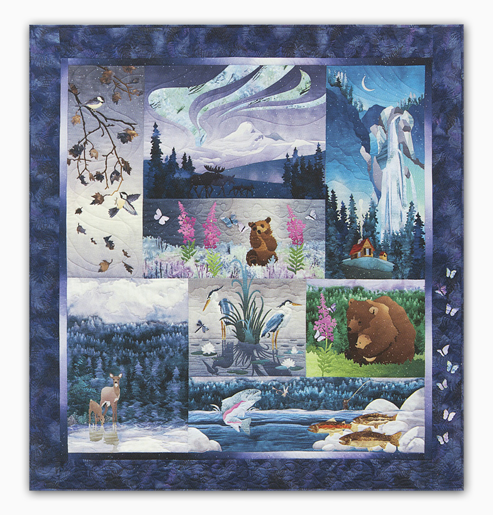 Aurora Ridge Laser Cut Quilt Kit By Mckenna Ryan