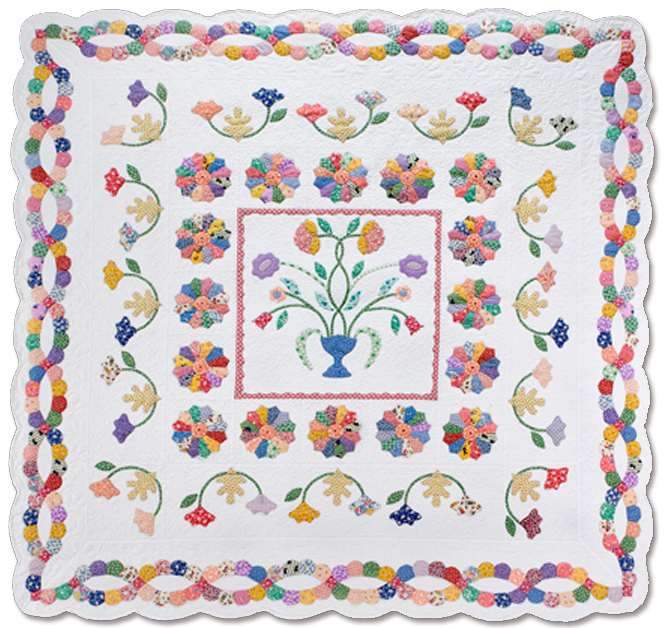 Vintage find last one chelsea english paper piecing applique chelsea english paper piecing applique quilt pattern by sue daley pronofoot35fo Image collections