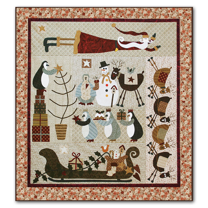 Friends For Christmas Quilt Kit Fabric Only By Lynette