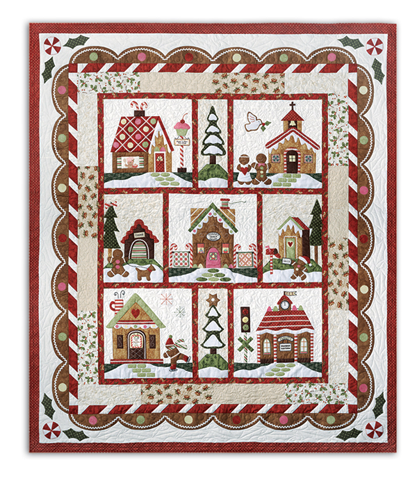 Gingerbread Village Block of the Month or All at Once is Back! by ... : quilt companies - Adamdwight.com