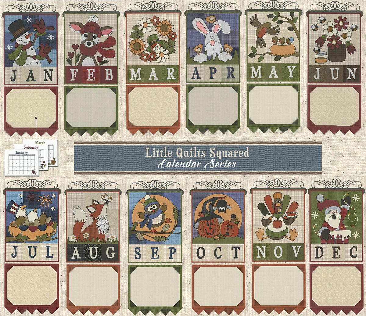 Little Quilts Squared -Hanging Calendar Series : calendar quilts - Adamdwight.com