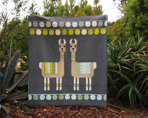 Last One Lloyd Amp Lola Llama Quilt Kit By Elizabeth Hartman