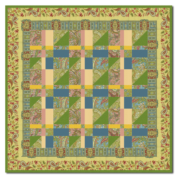 Magic Carpet Ride Wallhanging Quilt Kit By Homespun Hearth Exclusive