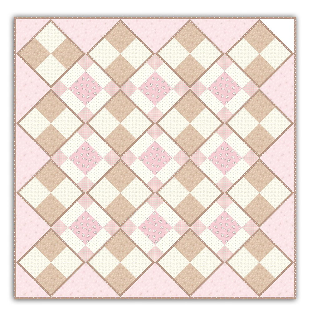 Softly Romantic Quilt Pattern Download And Optional Kit By Homespun