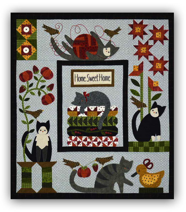 Purrfectly Pieced Block of the Month or All at Once by Bonnie ... : all through the night quilt patterns - Adamdwight.com