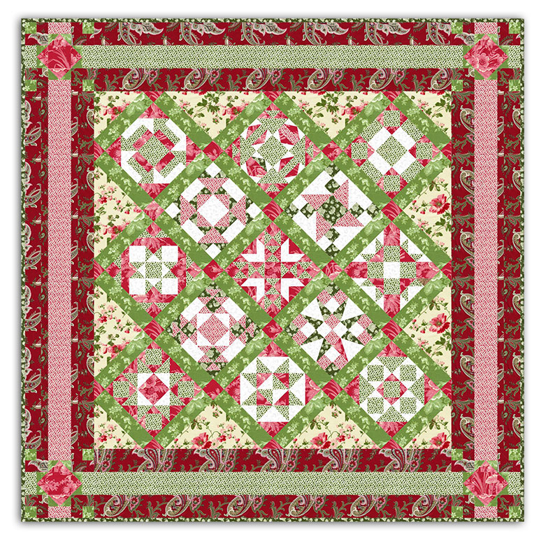 Christmas nifty nine patch sampler by fabric shop network - Quilt rits ...