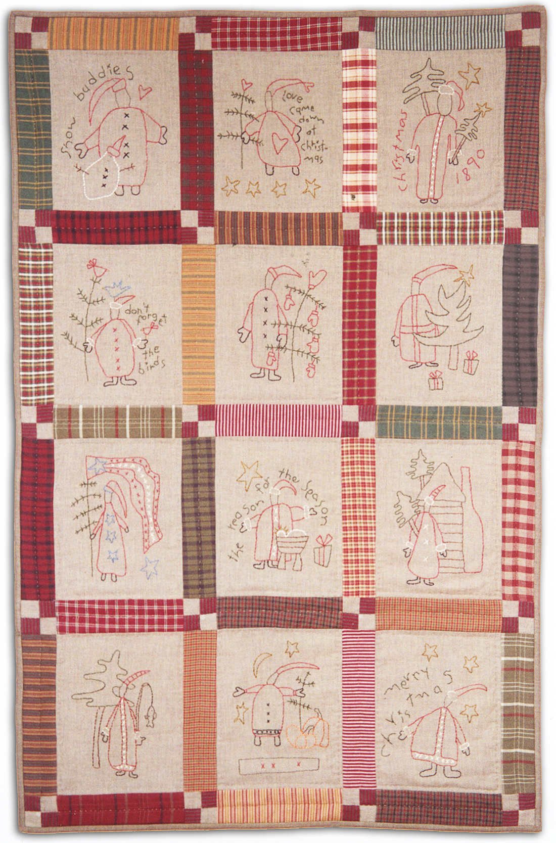 Quilt Patterns For Homespun Fabric : Santa Stitchery & Homespun quilt Kit