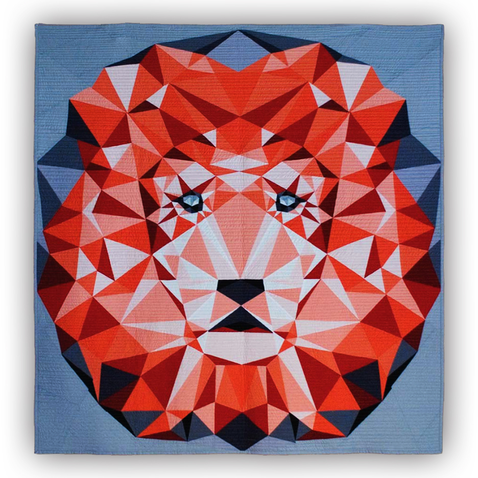 Jungle Abstractions: The Lion Quilt Kit : lion quilt pattern - Adamdwight.com
