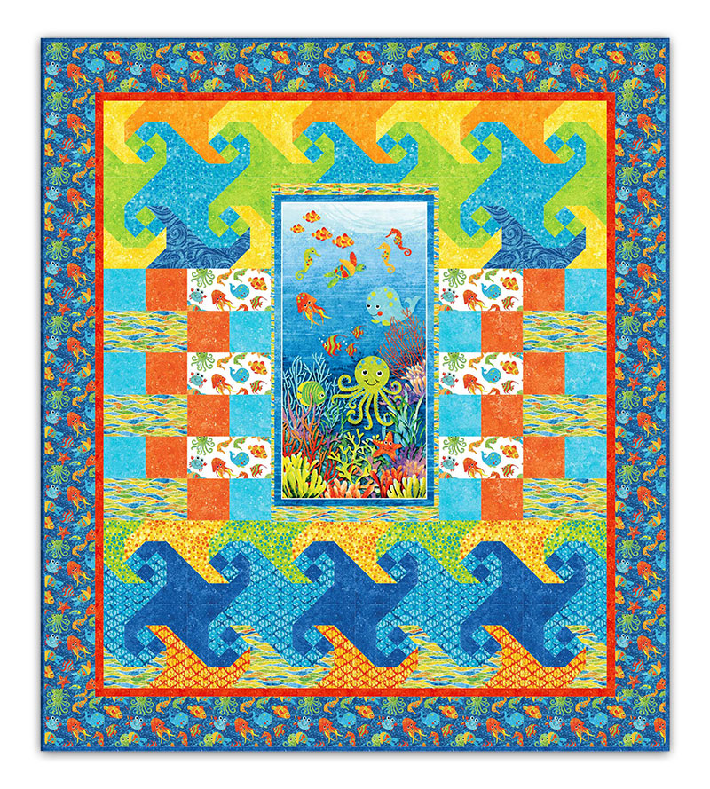 Under the sea twin size quilt kit - Quilt rits ...