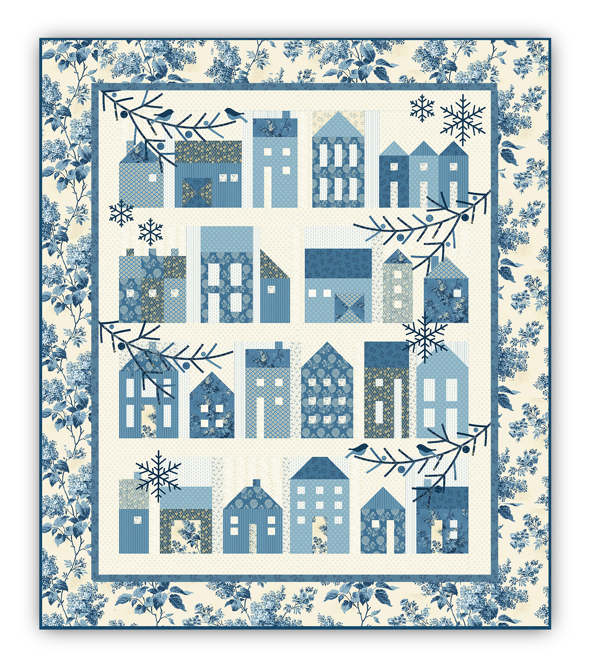 Winter Village Block of the Month with by Edyta Sitar - Optional ... : village quilts - Adamdwight.com