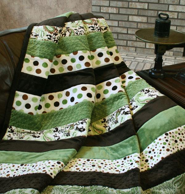 The Frat Wrap Snuggler Minky Quilt Kit