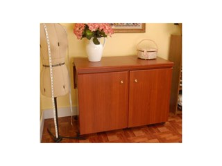 Bertha Cabinet Cherry -Closed