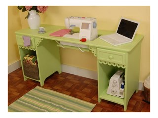Olivia Sewing Table - Pistachio