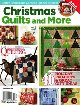 Christmas quilts and more better homes gardens special Better homes and gardens christmas special