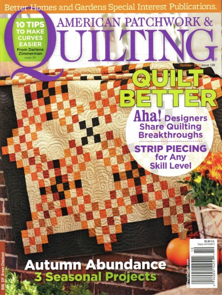 American Patchwork Quilting October 2015 Issue 136