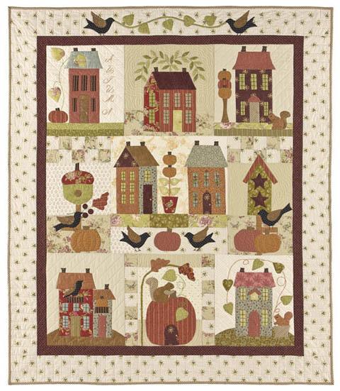 Autumn House Quilt Pattern By Bunny Hill Designs Anne Sutton