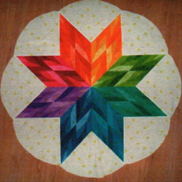Star Petal Table Topper Pattern By Cut Loose Press