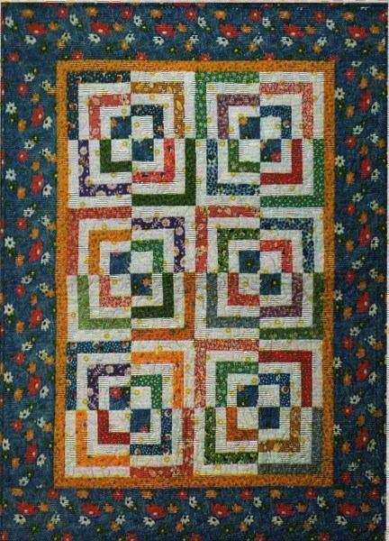Half Log Cabin Quilt Pattern By Cut Loose Press