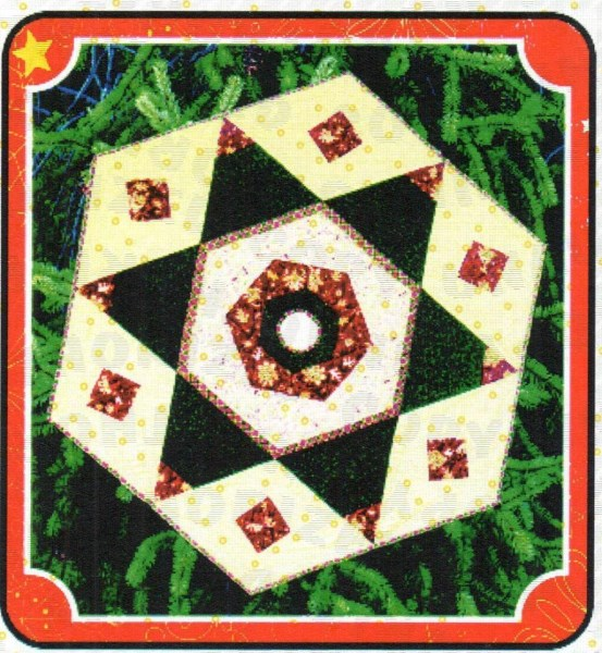 Hybrid Hexi Star Tree Skirt Quilt Pattern By Cut Loose Press