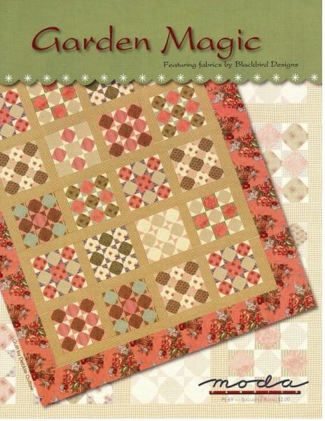 VINTAGE FIND Garden Magic Quilt Pattern Blackbird Designs For Amazing Moda Quilt Patterns