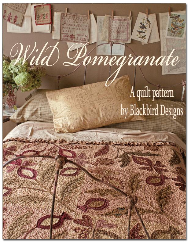 Wild Pomegranate Quilt Pattern By Blackbird Designs Barb Adams Alma Allen Blackbird Designs