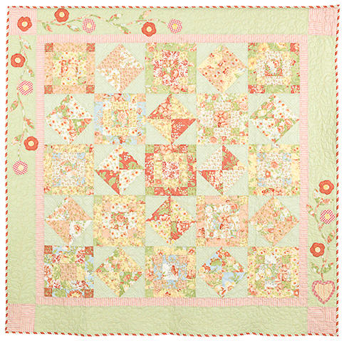 Simply Cottage Quilt Pattern by Bunny Hill by agardenofroses