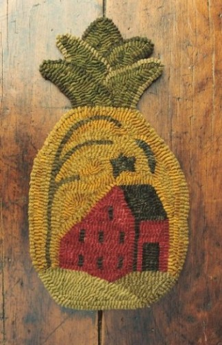 House On The Pineapple Rug Hooking Pattern By Buttermilk