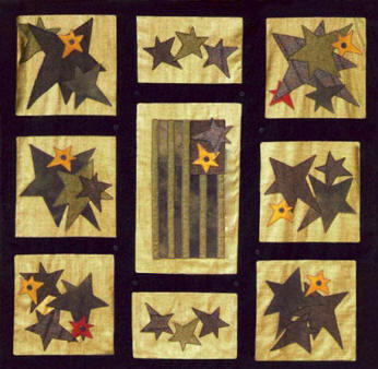 Primitive Glory Silk & Wool Quilt Pattern by Lakeview Primitives ... : wool quilt review - Adamdwight.com
