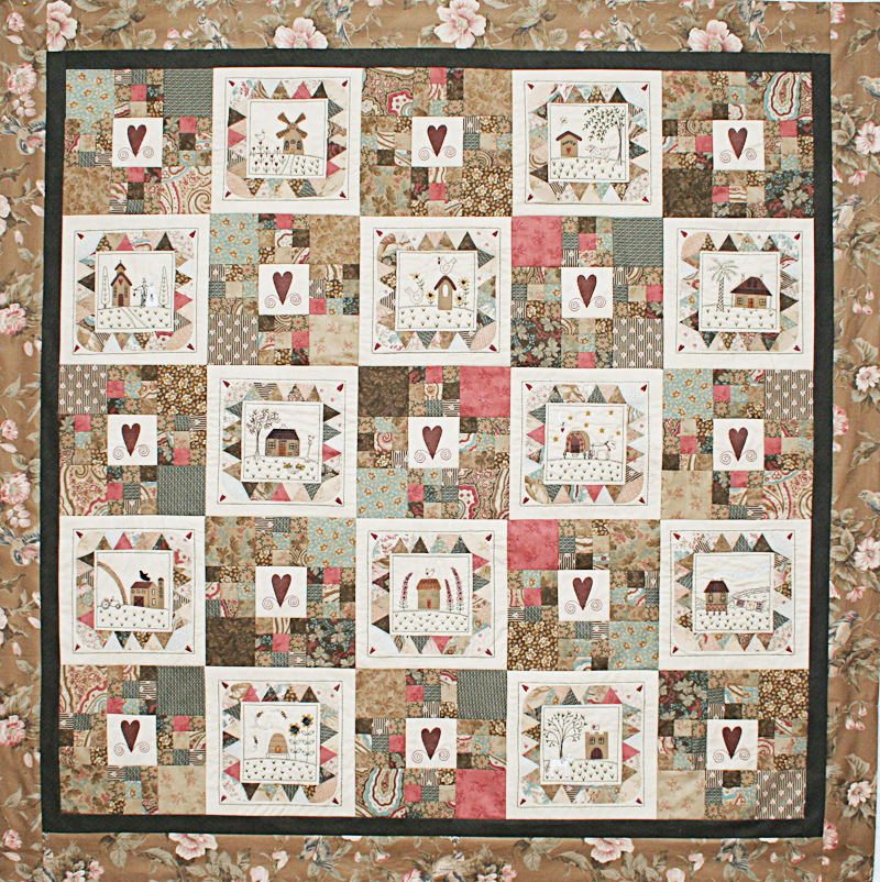 Your Home Or Mine Quilt Kit By Lynette Anderson Designs