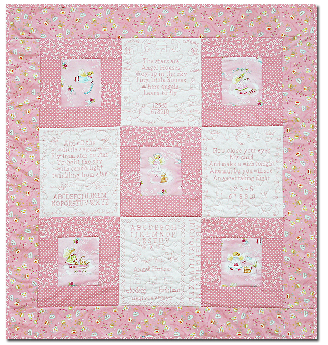 Angel Houses Baby Girl Quilt Kit - LAST ONE!! by Butterfly Dreams ... : baby quilting kits - Adamdwight.com