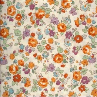 Lecien le petit jardin floral toss on cream - Le petit jardin quilt pattern calais ...