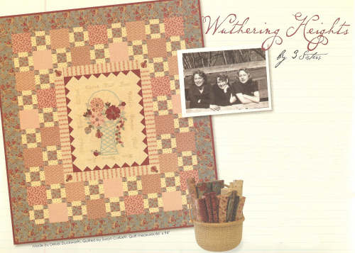 Wuthering Heights Quilt Kit 3 Sisters