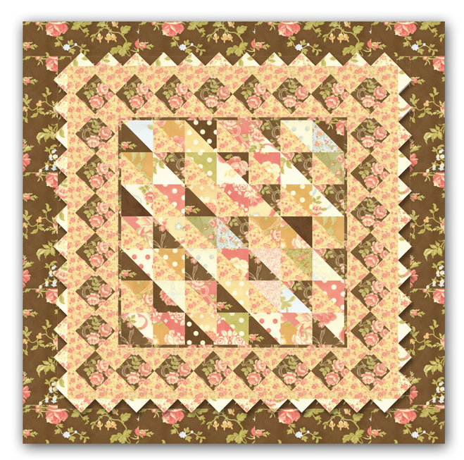 Quilt Patterns For Homespun Fabric : Holly Golightly s Charming Breakfast at Tiffany s Quilt Kit by Homespun Hearth Exclusive Design