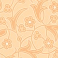 Orange Flower Print - Lady Edith - Downton Abbey Collection by Andover Fabrics