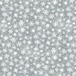 Essentials Snowflakes on Gray by Wilmingonton Prints