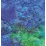 1/2 yard piece - Island Batik Blue & Green Marble