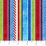 Winter's Magic - Colorful Stripe Fabric