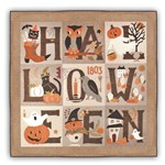 Merrie Halloween - Wool Applique on Flannel Block of the Month or All at Once!
