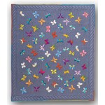 It's Back!  Euphoric Butterflies Lap Size Quilt Kit<br>100% Hand Dyed Wool Applique on Wool or  Silk Matka
