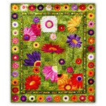 Full Bloom Batik Quilt Kit - Free US Shippng!