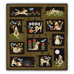 Lucky Dog Block of the Month or All at Once - Prefused & Laser Cut Applique