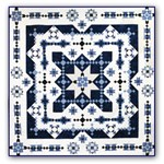 Midwinter Blues Batik King Size is Back!  <br> Block of the Month or All at Once<br>Starts October 2017!
